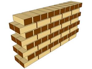 انواع دیوار ها در ساختمان_پیوند بلوکی