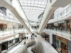 نمونه ایی از دیافراگم باز در مرکز تجاری
